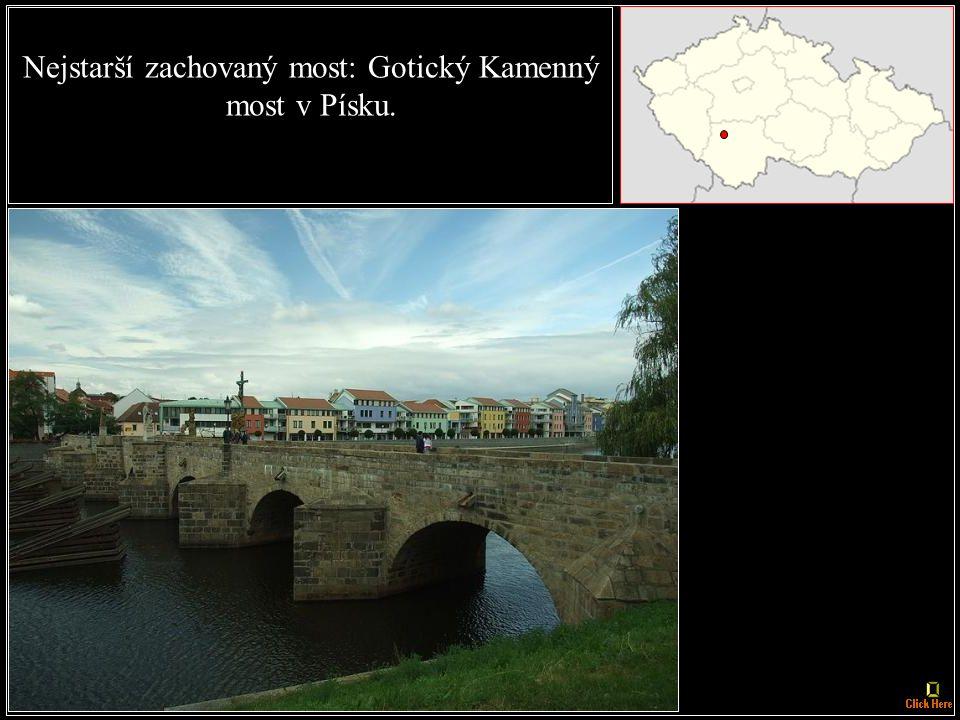 (okres Písek) Nejvyšší most: Žďákovský most přes Vltavu u Orlíku nad Vltavou, výška je 90 m od nejhlubšího bodu údolí.