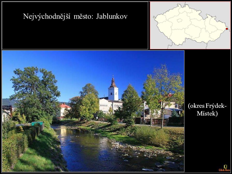 Nejzápadnější obec: Krásná (okres Cheb)