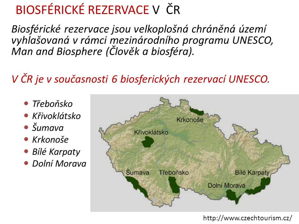 Biosférické rezervace jsou velkoplošná chráněná území vyhlašovaná v rámci mezinárodního programu UNESCO, Man and Biosphere (Člověk a biosféra).