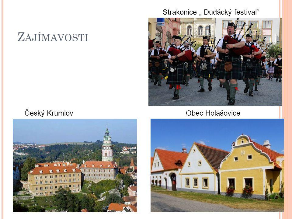 """Z AJÍMAVOSTI Český KrumlovObec Holašovice Strakonice """" Dudácký festival"""