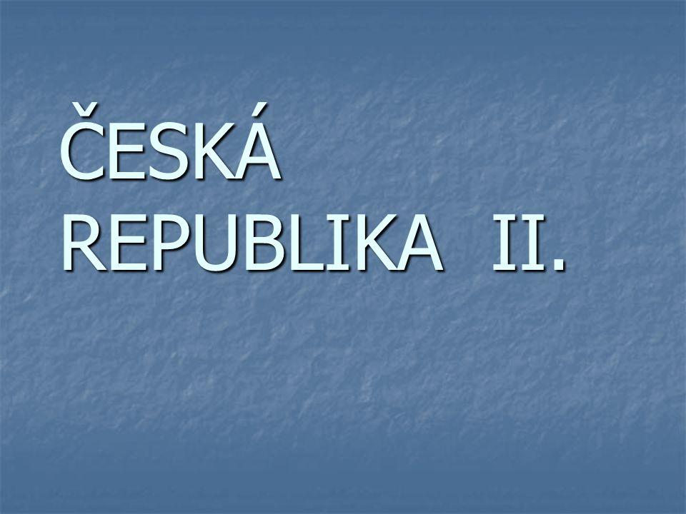 Povrch České republiky – reliéfní mapa
