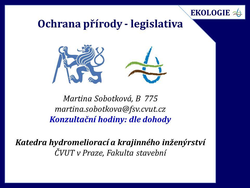 Legislativa Zákon č.17/1992 Sb.