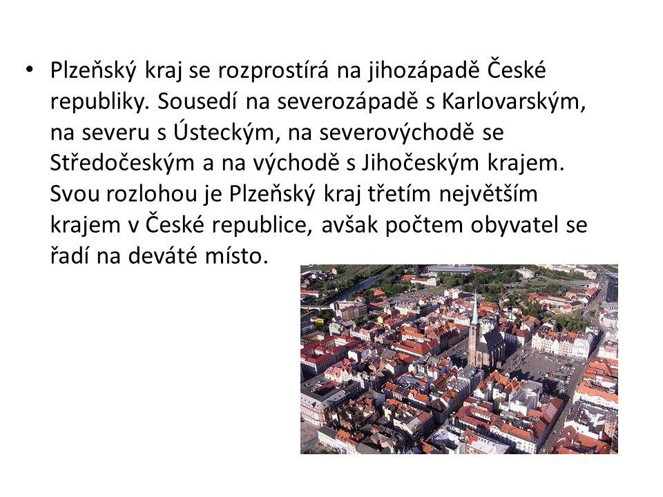 Plzeňský kraj se rozprostírá na jihozápadě České republiky. Sousedí na severozápadě s Karlovarským, na severu s Ústeckým, na severovýchodě se Středoče