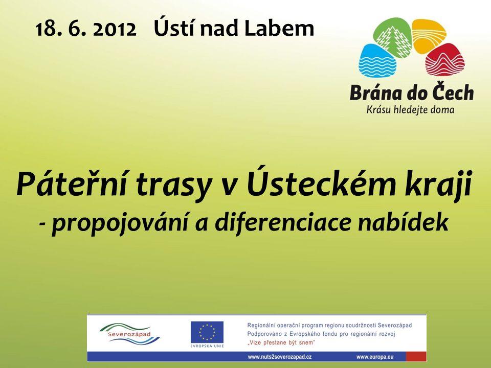 Páteřní trasy v Ústeckém kraji - propojování a diferenciace nabídek 18. 6. 2012 Ústí nad Labem