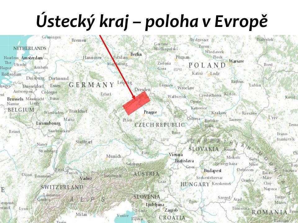 Ústecký kraj – poloha v Evropě