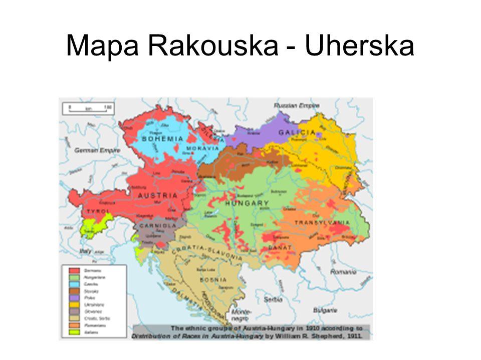 Mapa Rakouska - Uherska