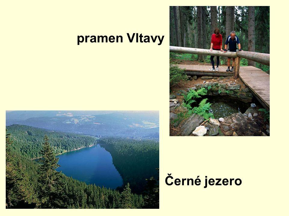 pramen Vltavy Černé jezero
