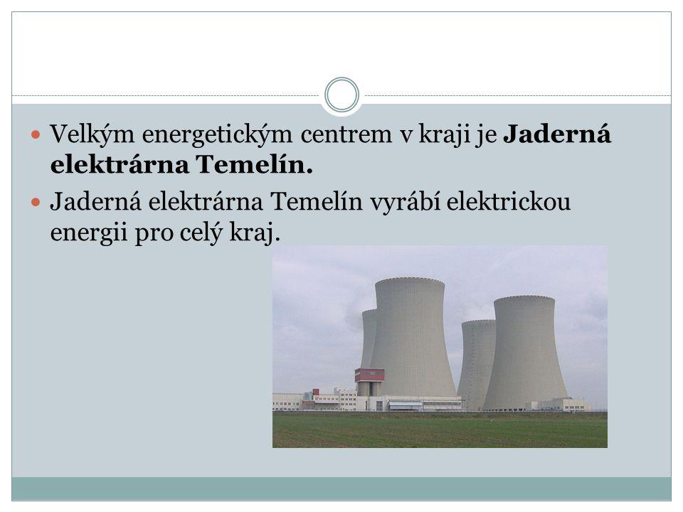 Velkým energetickým centrem v kraji je Jaderná elektrárna Temelín. Jaderná elektrárna Temelín vyrábí elektrickou energii pro celý kraj.