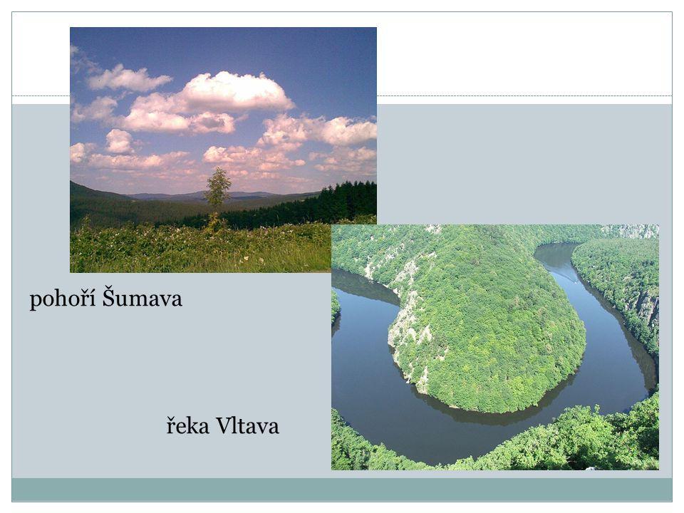 pohoří Šumava řeka Vltava