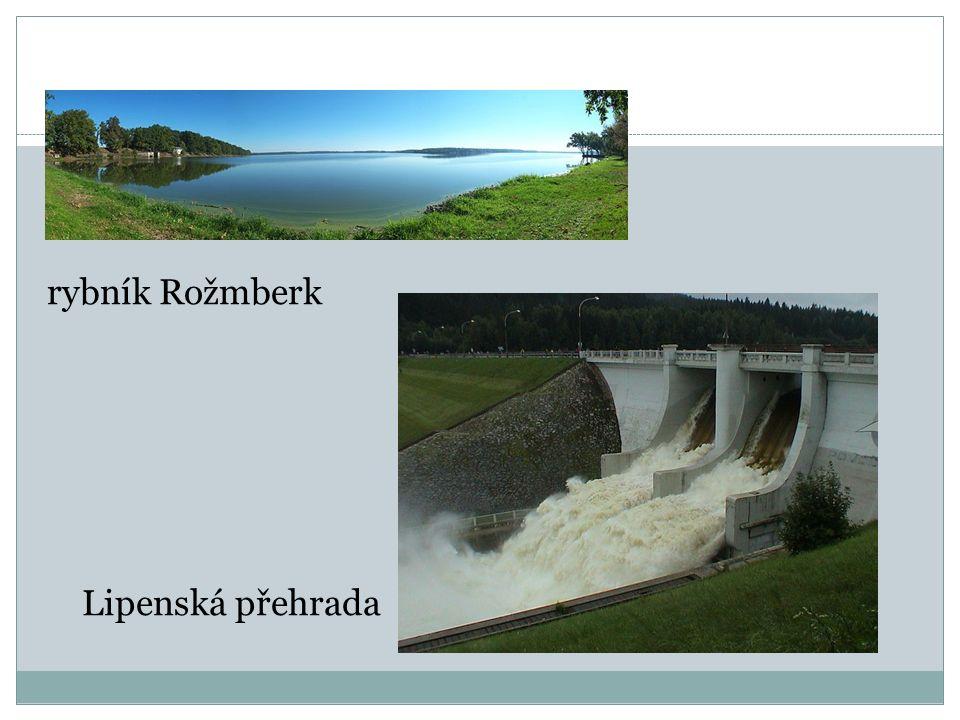 rybník Rožmberk Lipenská přehrada