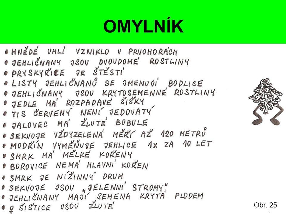 OMYLNÍK Obr. 25