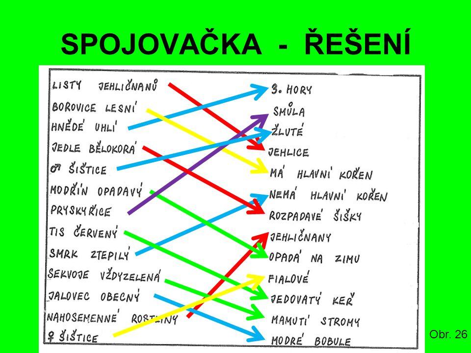 SPOJOVAČKA - ŘEŠENÍ Obr. 26