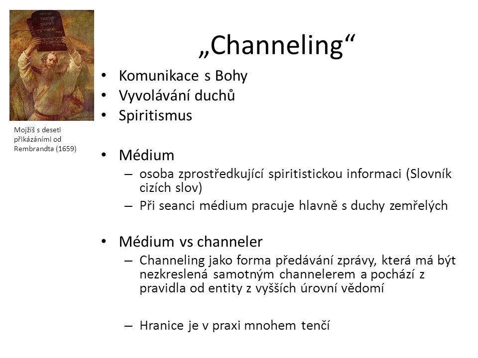 """""""Channeling"""" Komunikace s Bohy Vyvolávání duchů Spiritismus Médium – osoba zprostředkující spiritistickou informaci (Slovník cizích slov) – Při seanci"""