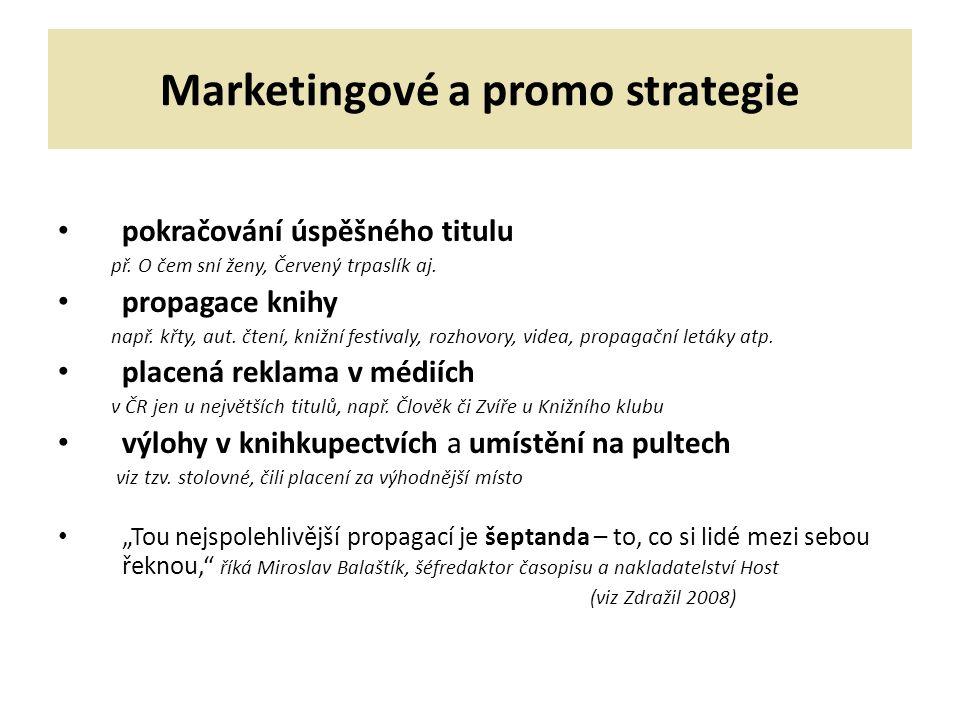 Marketingové a promo strategie pokračování úspěšného titulu př.