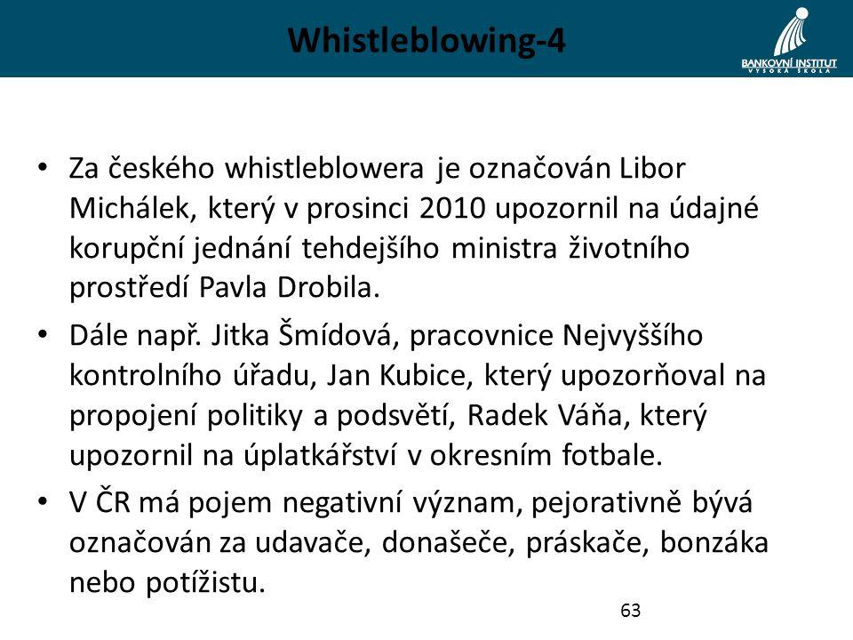 Whistleblowing-4 Za českého whistleblowera je označován Libor Michálek, který v prosinci 2010 upozornil na údajné korupční jednání tehdejšího ministra