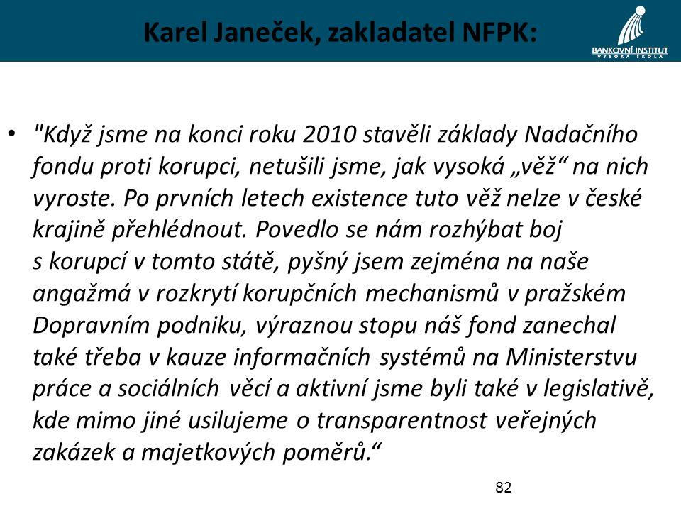 Karel Janeček, zakladatel NFPK: