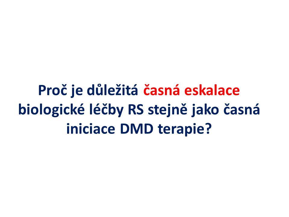 Proč je důležitá časná eskalace biologické léčby RS stejně jako časná iniciace DMD terapie?