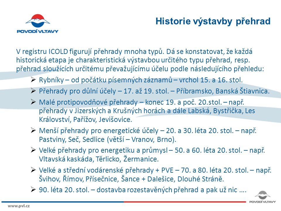 8/9/12 Historie výstavby přehrad V registru ICOLD figurují přehrady mnoha typů.