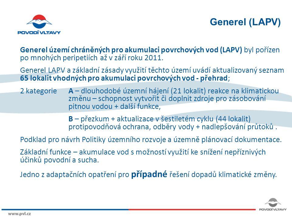 8/9/12 Generel (LAPV) Generel území chráněných pro akumulaci povrchových vod (LAPV) byl pořízen po mnohých peripetiích až v září roku 2011.