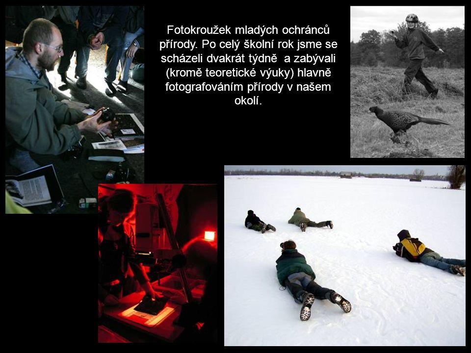 Fotokroužek mladých ochránců přírody.