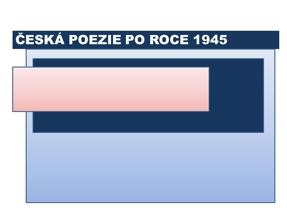 BUDOVATELSKÁ POEZIE PAVEL KOHOUT VÍTĚZSLAV NEZVAL 11. ČESKÁ POEZIE PO ROCE 1948