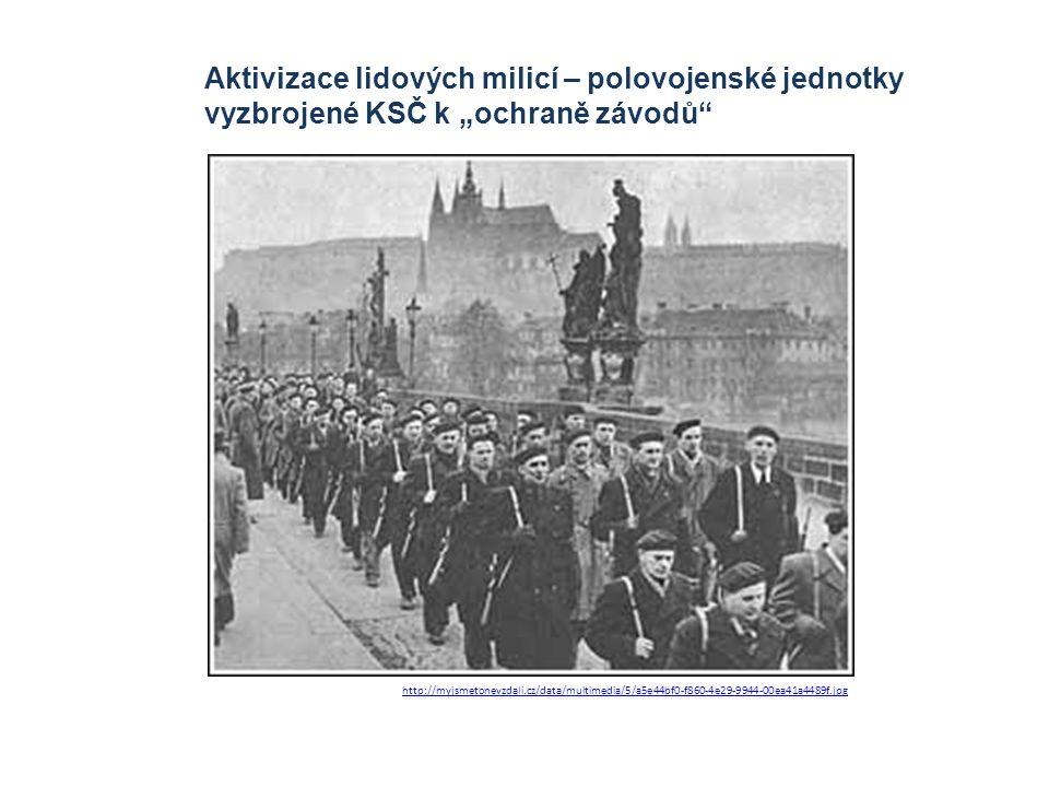 """Aktivizace lidových milicí – polovojenské jednotky vyzbrojené KSČ k """"ochraně závodů http://myjsmetonevzdali.cz/data/multimedia/5/a5e44bf0-f860-4e29-9944-00ea41a4489f.jpg"""