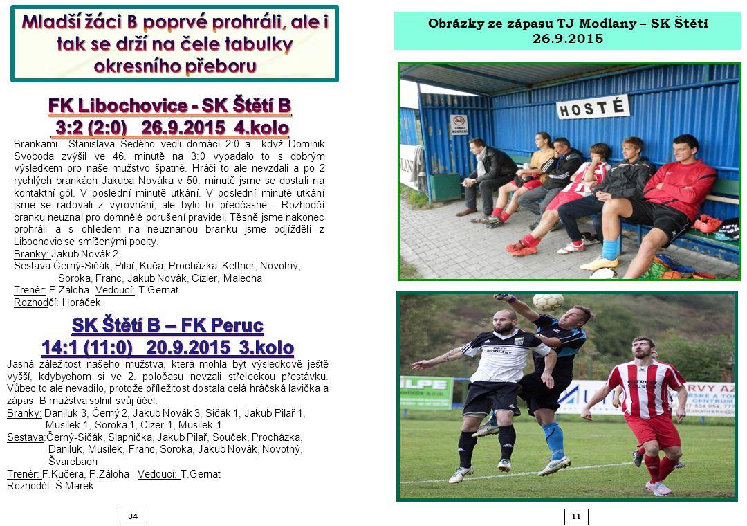 11 34 Obrázky ze zápasu TJ Modlany – SK Štětí 26.9.2015