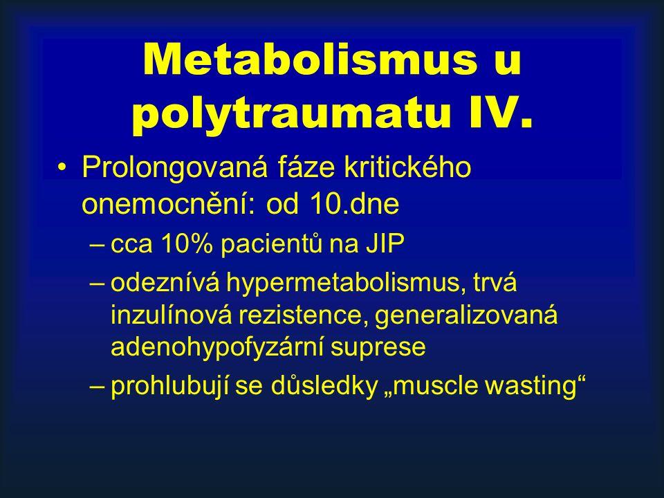Metabolismus u polytraumatu IV.