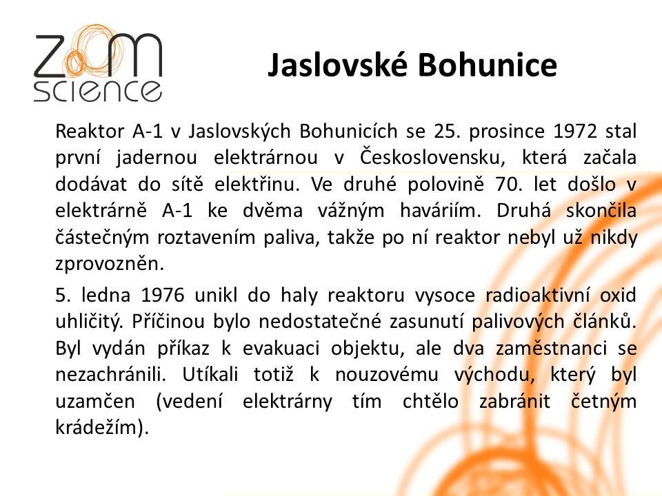 Jaslovské Bohunice Reaktor A-1 v Jaslovských Bohunicích se 25.