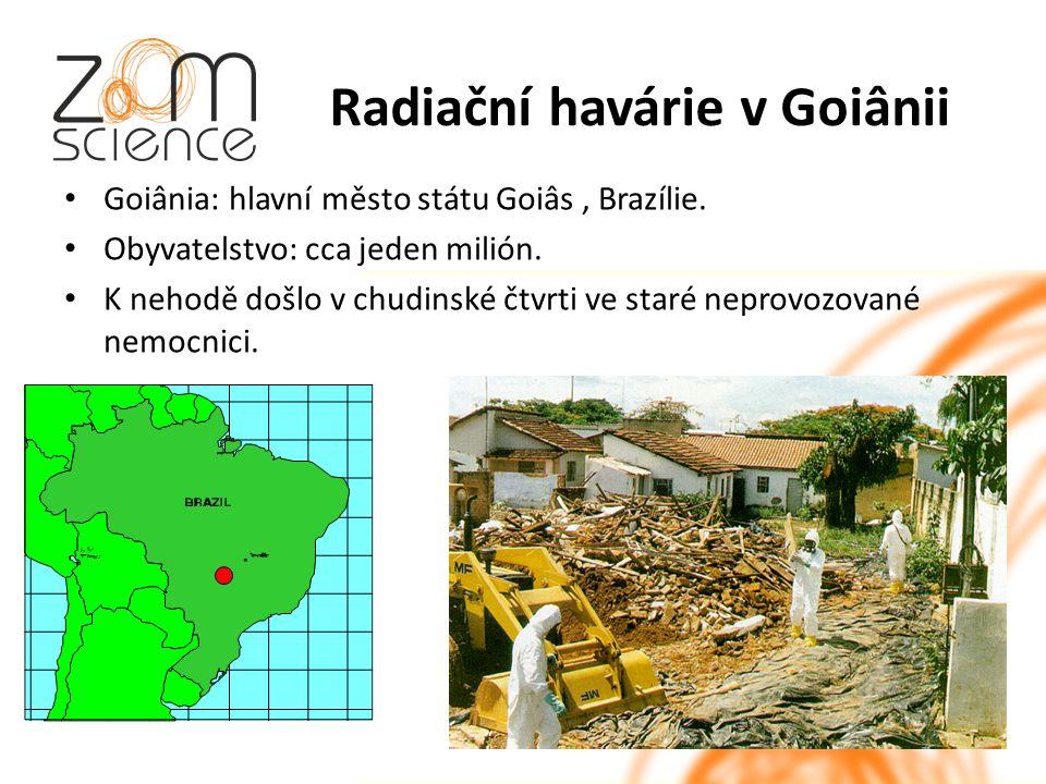 Radiační havárie v Goiânii Goiânia: hlavní město státu Goiâs, Brazílie.