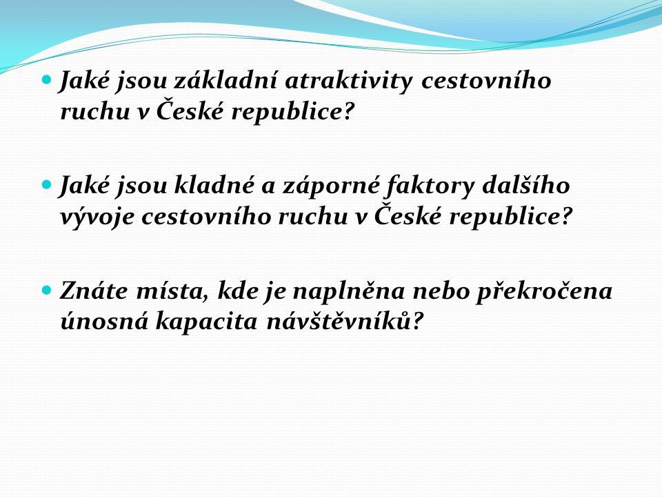 Jaké jsou základní atraktivity cestovního ruchu v České republice.