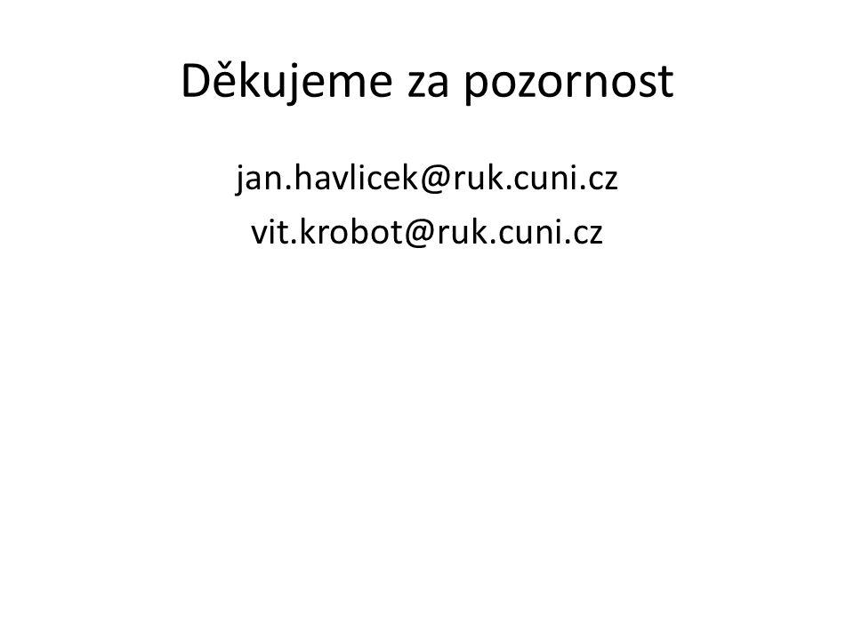 Děkujeme za pozornost jan.havlicek@ruk.cuni.cz vit.krobot@ruk.cuni.cz
