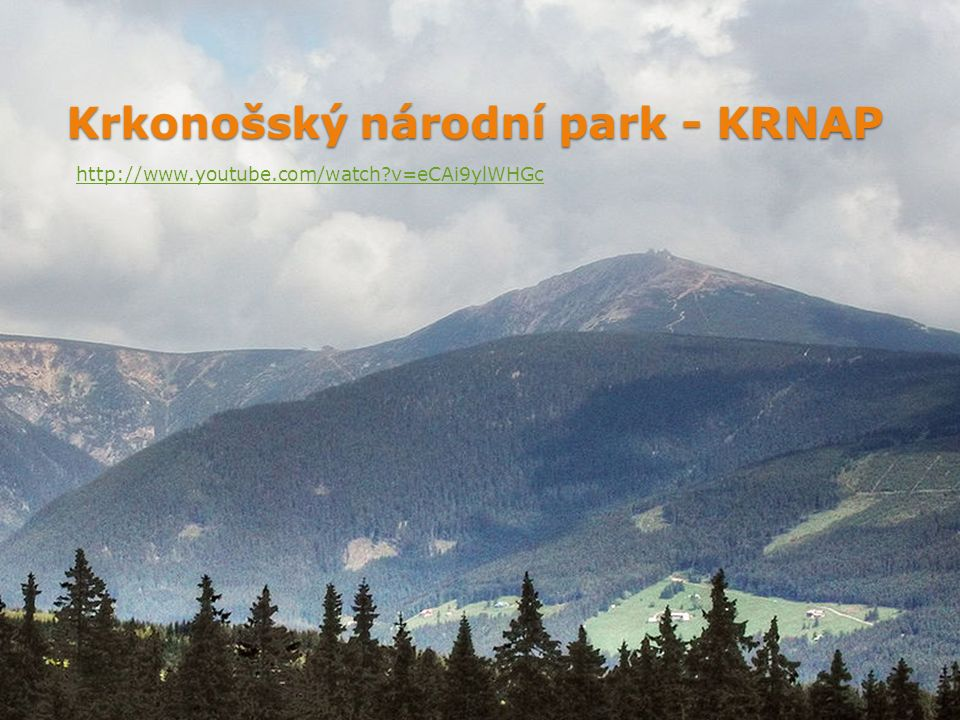 Krkonošský národní park - KRNAP http://www.youtube.com/watch?v=eCAi9ylWHGc