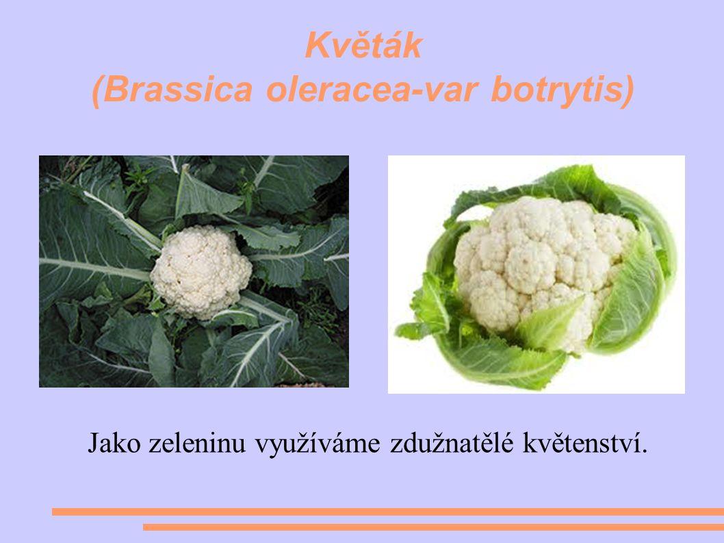 Květák (Brassica oleracea-var botrytis) Jako zeleninu využíváme zdužnatělé květenství.