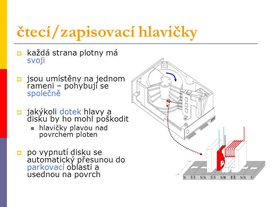  fyzická struktura fyzická struktura  magnetický záznam dat a kódování magnetický záznam dat a kódování