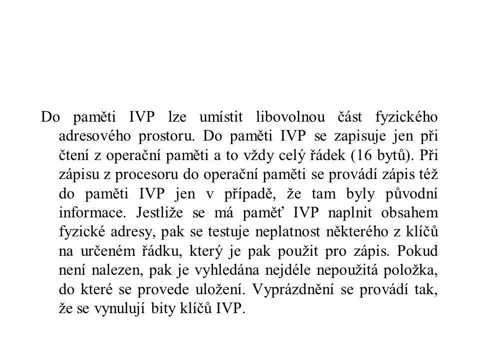 Do paměti IVP lze umístit libovolnou část fyzického adresového prostoru.