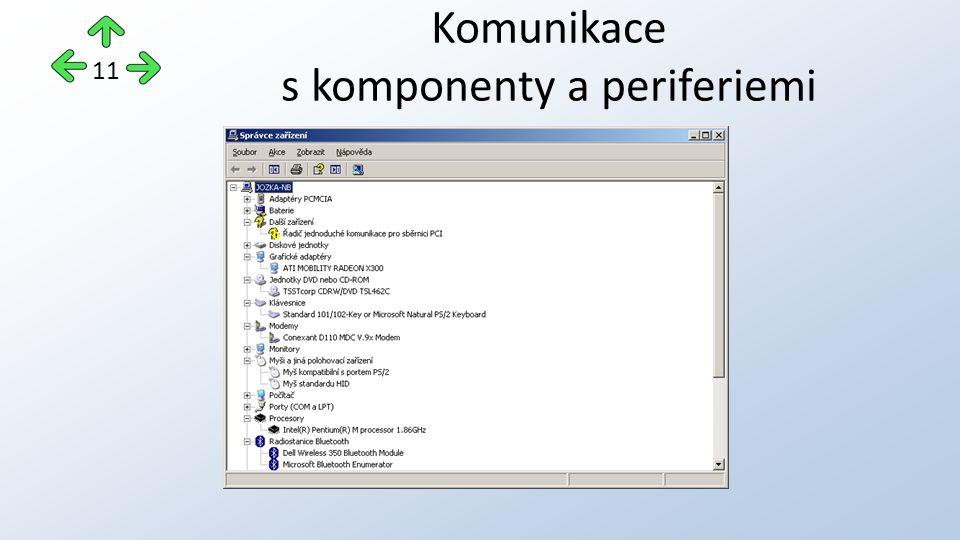 Komunikace s komponenty a periferiemi 11