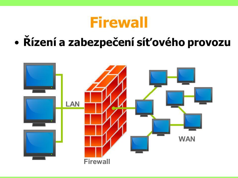Firewall Řízení a zabezpečení síťového provozu