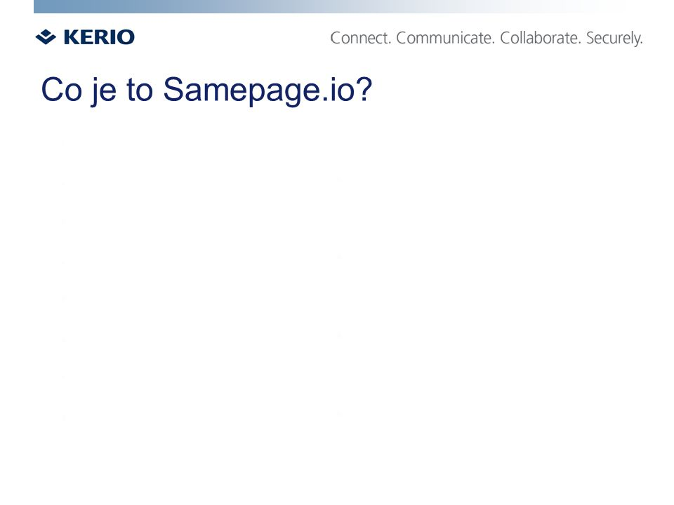 Co je to Samepage.io?