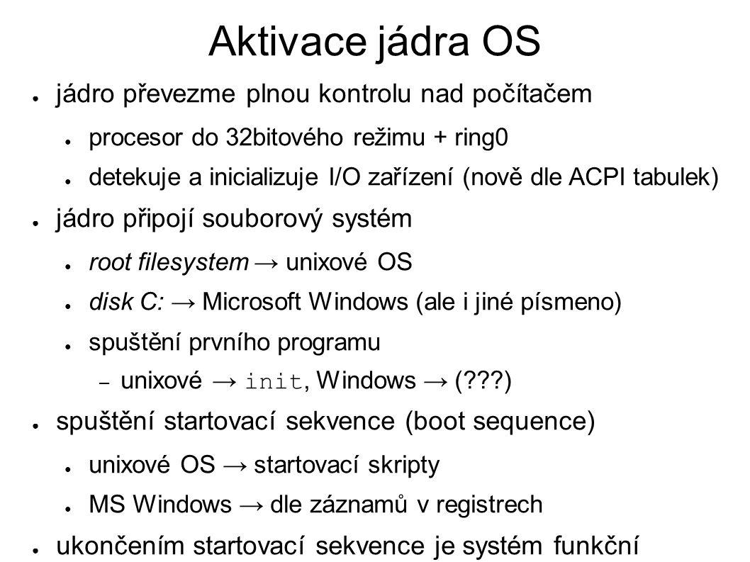 IBM PC: start z disku – I.