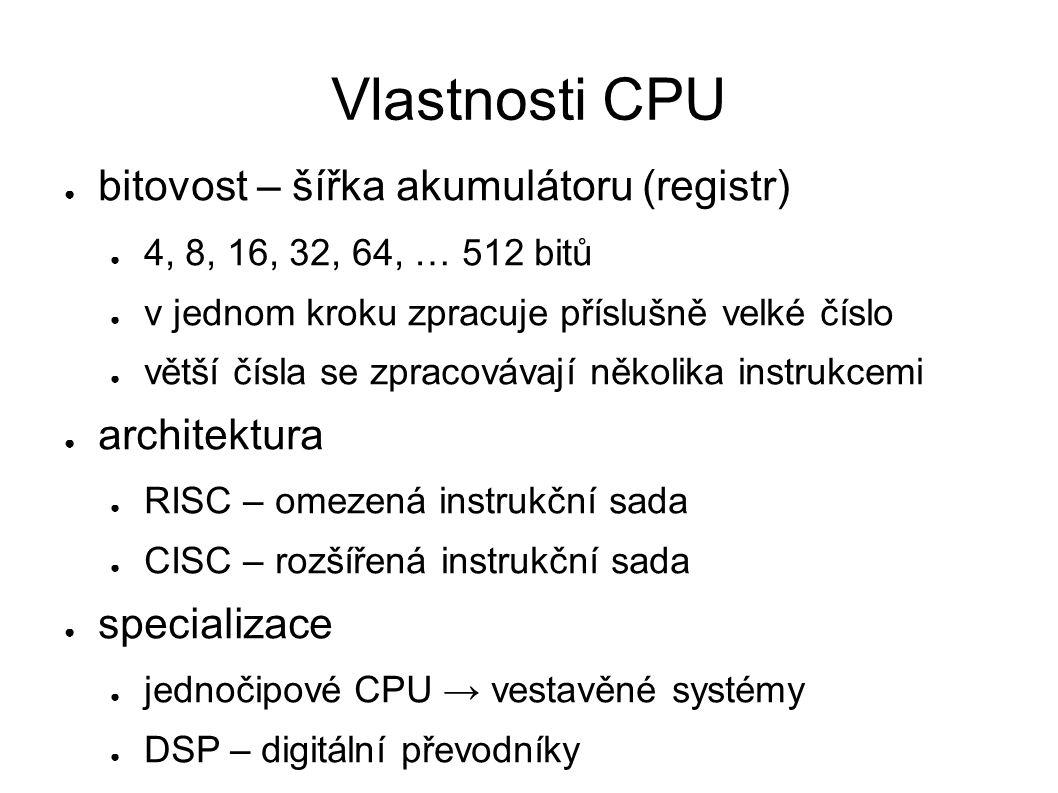 CPU pro IBM PC ● tj.