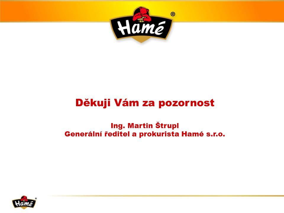 Děkuji Vám za pozornost Ing. Martin Štrupl Generální ředitel a prokurista Hamé s.r.o.