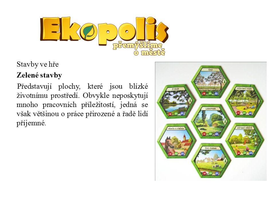 Stavby ve hře Zelené stavby Představují plochy, které jsou blízké životnímu prostředí.