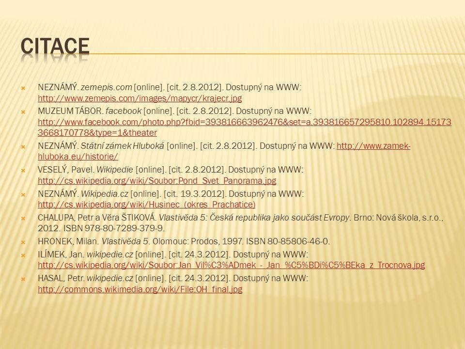 NEZNÁMÝ. zemepis.com [online]. [cit. 2.8.2012].