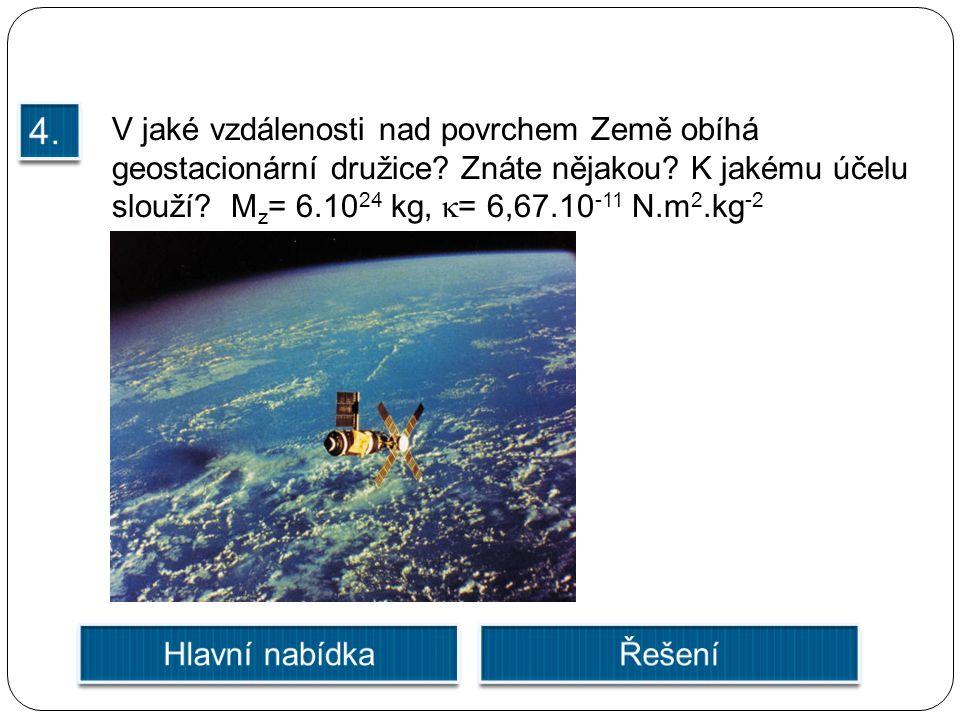 V jaké vzdálenosti nad povrchem Země obíhá geostacionární družice.