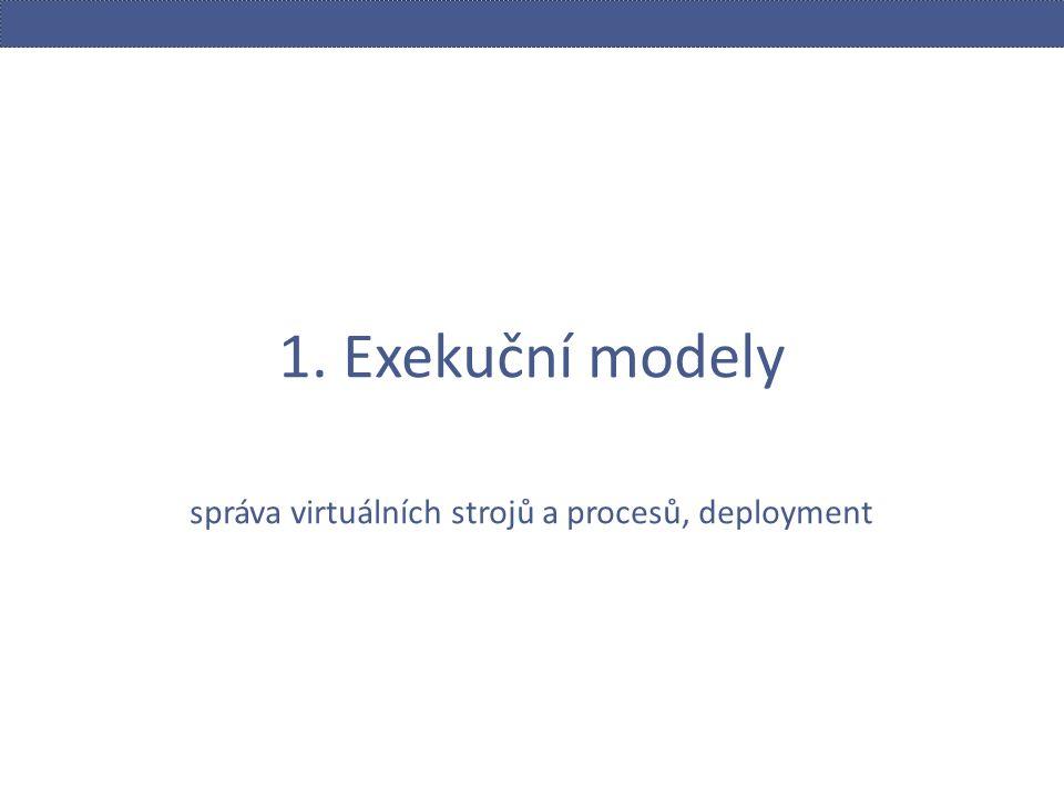 1. Exekuční modely správa virtuálních strojů a procesů, deployment