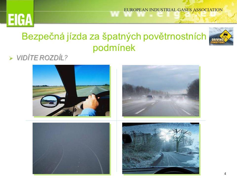 4 Bezpečná jízda za špatných povětrnostních podmínek  VIDÍTE ROZDÍL  VIDÍTE ROZDÍL?