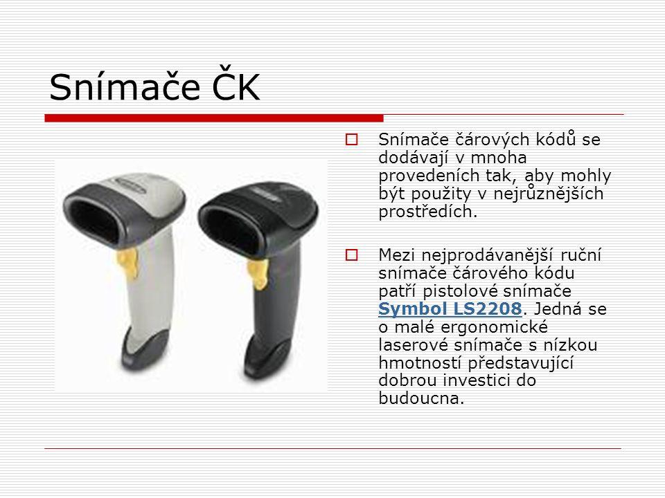 Snímače ČK  Snímače čárových kódů se dodávají v mnoha provedeních tak, aby mohly být použity v nejrůznějších prostředích.