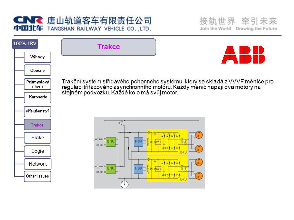 Trakce Trakční systém střídavého pohonného systému, který se skládá z VVVF měniče pro regulaci třífázového asynchronního motoru.