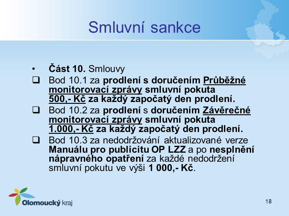 18 Smluvní sankce Část 10.